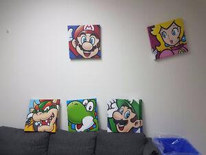 Nintendo 16x16 Canvas Prints: 5 iconic characters
