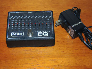 MXR 10-Band Graphic EQ pedal for guitar WITH power adapter.