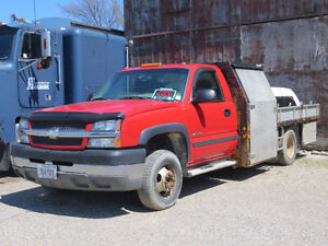 2003 Chev 1 ton with welding deck