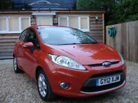 FORD FIESTA ZETEC 2012 Petrol Manual in Orange