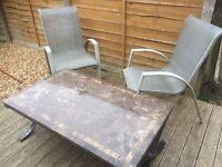 garden table & chairs / patio ser / caravan furniture £20