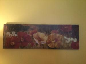 "Beautiful Print on Canvas - 59"" X 19"""