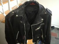 Leather jacket - motorcycle style