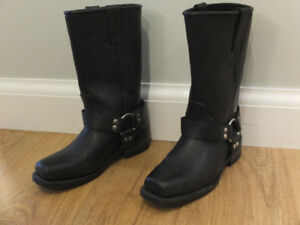 Ladies leather motorcycle  boots.