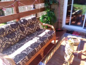 Make an offer! Bamboo Patio set meuble en rotin osier wicker