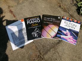 Piano books,