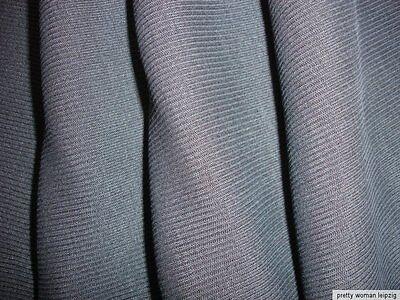 1 Lfm Schlauchstoff 5,70€/m² Strickschlauch Wolle Rippstrick dkl.-grau PC47