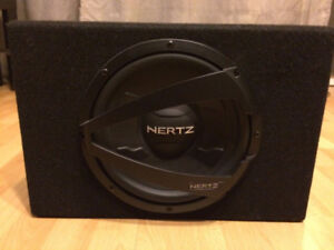 "10"" Hertz Subwoofer in Slim Hertz enclosure Like NEW"