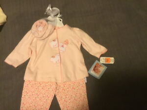 Pretty in Pink Oufit w pants, top and booties, BRAND NEW w tags