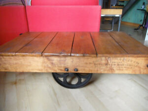 Gibbard Furniture industrial cart for loft style table