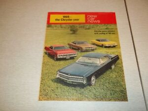 brochure auto dodge-plymouth-chrysler 1969