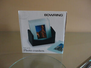 Brand new in box set of 4 glass photo coasters London Ontario image 2