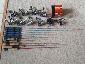 QUALITY ICE FISHING RODS AND REELS