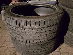 "2 Dunlop Sport Maxx 18"" low pro tires"