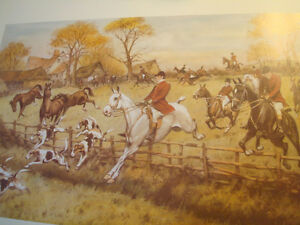 Fox Hunt Print Full Cry Through The Homestead - George Wright Peterborough Peterborough Area image 1