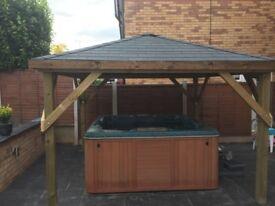3m x 3m hot tub shelter / gazebo