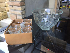 Two Different Punch Bowl Sets.