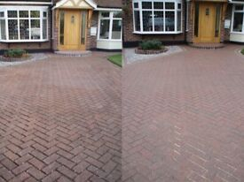 Driveway power cleaning