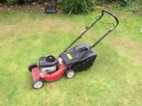 Sovereign 19 inch petrol lawn mower. Serviced and gwo