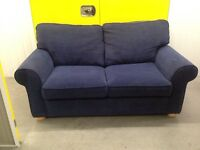 "Blue two seater sofa bed ""FREE LOCAL DELIVERY"""