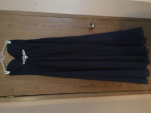 Navy Blue Bill Levkoff Prom Dress