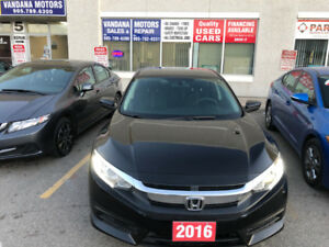 2016 Honda Civic 4dr CVT LX- Heated Front Seats, Backup Camera