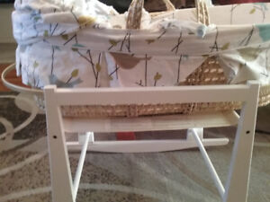Bassinet with stand for sale