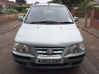 Hyundai matrix mpv top spec very low miles
