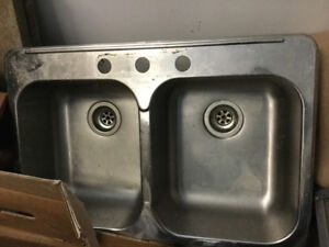 Double stainless steel sink for sale