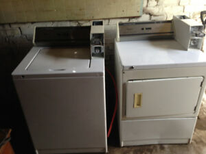 Coin op washer and dryer Whirlpool