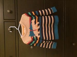 chandail de laine 4T Deux par deux