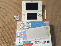 EUROPEAN white new 3ds with 5 games + 16 GB Micro SD