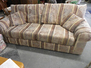 Brown Stripe Chesterfield