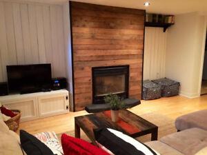 Superbe appartement au look rustique tout meublé