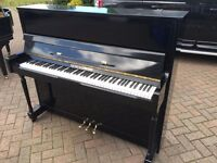 Modern upright shiny black piano by squire & Longson| Belfast pianos |
