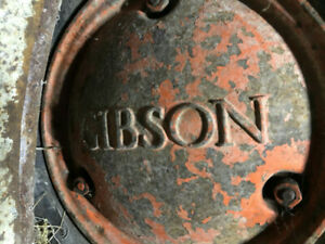 Gibson tractor and ciment mixer