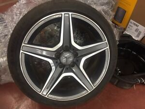 Mercedes AMG rims and winter tires.  Regina Regina Area image 1