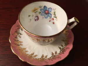 Aynsley Flower Cup and Saucer