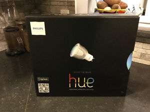 New PHILIPS Hue Led 6.5W GU10 Starter Pack with 3 Bulbs + Bridge
