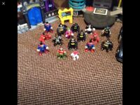 Imaginext buildings,cars and characters