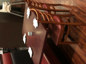 Restaurant dining tables and chairs set