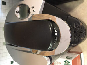 Keurig + pods in great condition