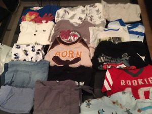 A big lot of boy's clothes size 12-24M. AVAILABLE