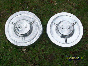 HUBCAPS CHEV ''DOG DISH''  10'' INSIDE DIAM. CADILLAC HUBCAPS