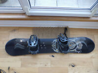 K2 Snowboard Atlas Series 162cm Format Wide with CTS Cinch Bindings and Dakine bag