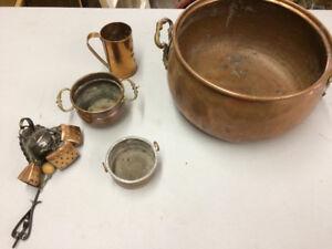 Beau bols en cuivre ---- Nice copper bowls
