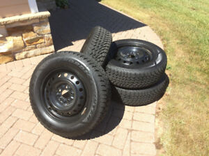 4 Goodyear Nordic Winter Tyres and Rims