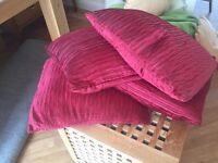 4 x red fold effect cushions