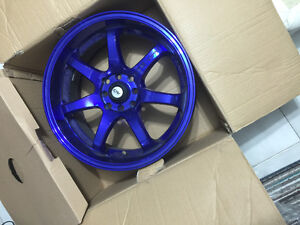 """17"""" DAI Mirage Anodized Blue With Tires"""