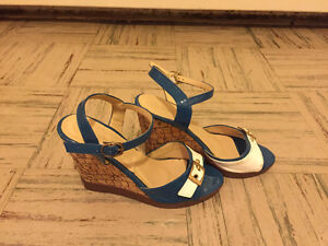 Summer wedges in white and blue! Kitchener / Waterloo Kitchener Area image 2
